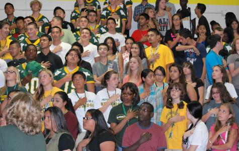 Students enjoy first rally of the year