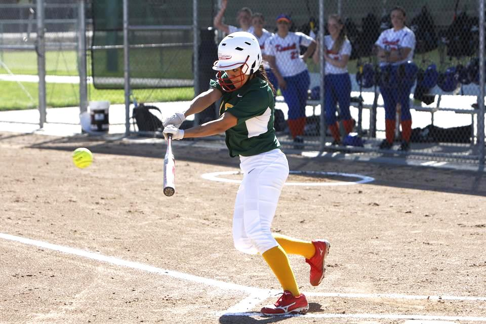 Ellie Fisher is up for bat against Kimball of Tracy.