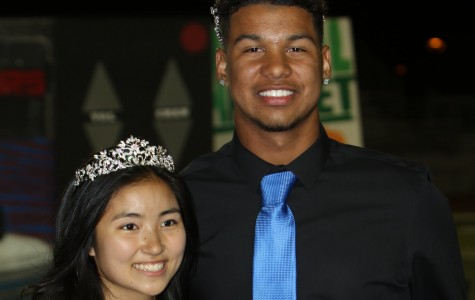 Homecoming king Nate Turner and queen Mikaela Mizuno.