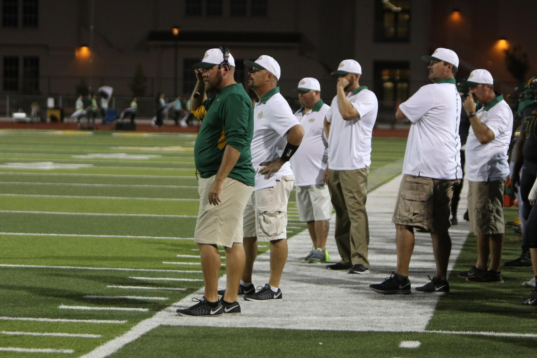 Coach Shrout and other Tracy High coaches