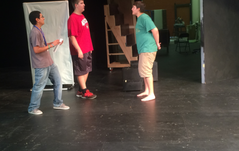 Drama students rehearse in the Emma Bumgardner theater after school.