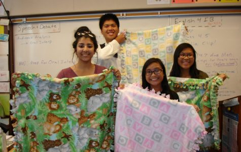 Key Club and DIY Baby Blankets
