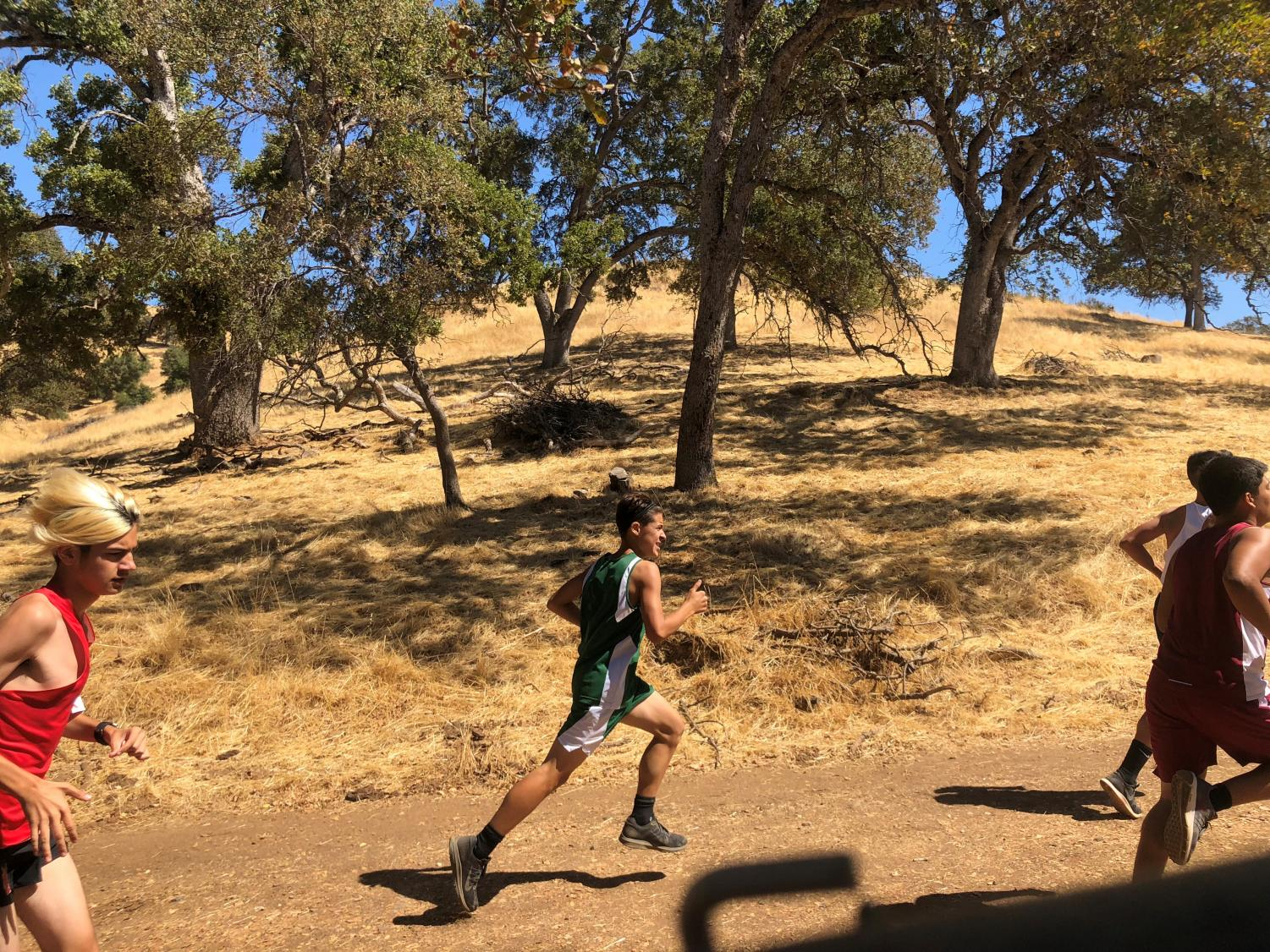 Frosh-Soph boy Jack Cornwell on the Frogtown course.
