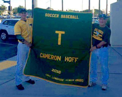 Hoff and baseball coach Vic Alkire