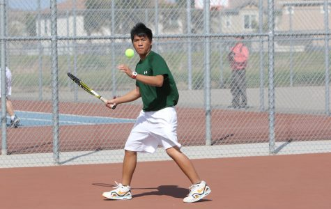 Boys' tennis team finishes third in league