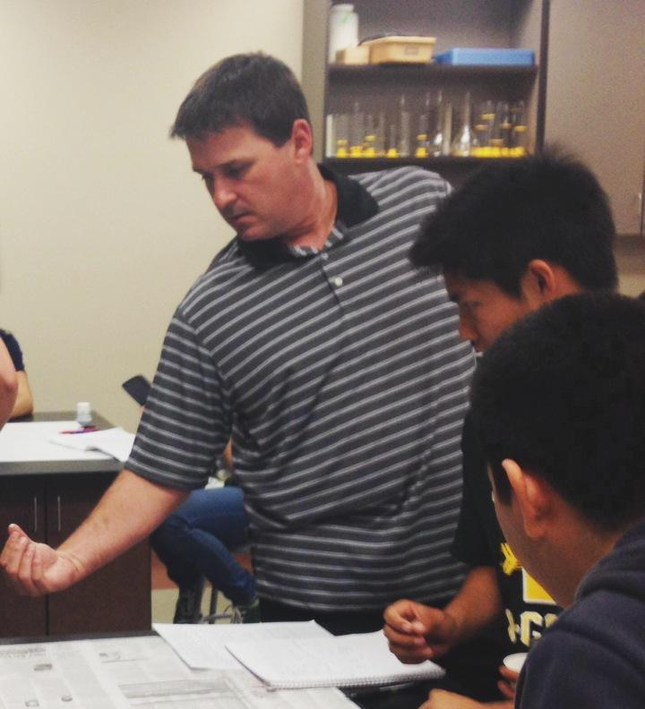 New assistant principal Jon Waggle when he was a classroom teacher